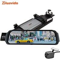 Bluavido 10 inch Mirror DVR android ADAS Car Camera GPS Maps FHD 1080P Car Rear View Mirror video recorder Night Vision Dash Cam