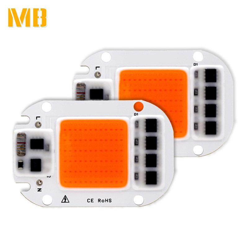 Led Grow Lights Led Lighting Considerate 2pcs Led Grow Light Chip 20w 30w 50w Full Spectrum 380nm~780nm 110v230v Best For Hydroponics Greenhouse Grow Diy For Growth Lamp