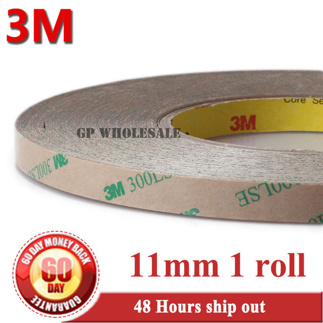 1x 11mm*55M 3M 9495LE 300LSE Clear 2 Side Strong Sticky Tape for Camera Lens Smart Phone Tablet LCD Display TouchScreen Digitzer