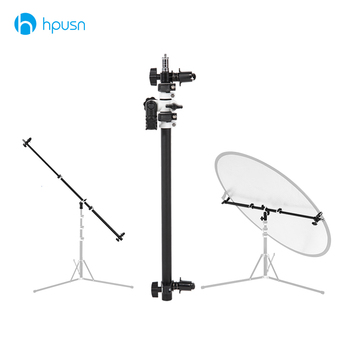Holder Bracket Swivel Head Reflector Disc Arm Support with Telescopic Boom Arm Top Light Sandbag for Speedlite Mini Flash Strobe Photo Studio Accessories