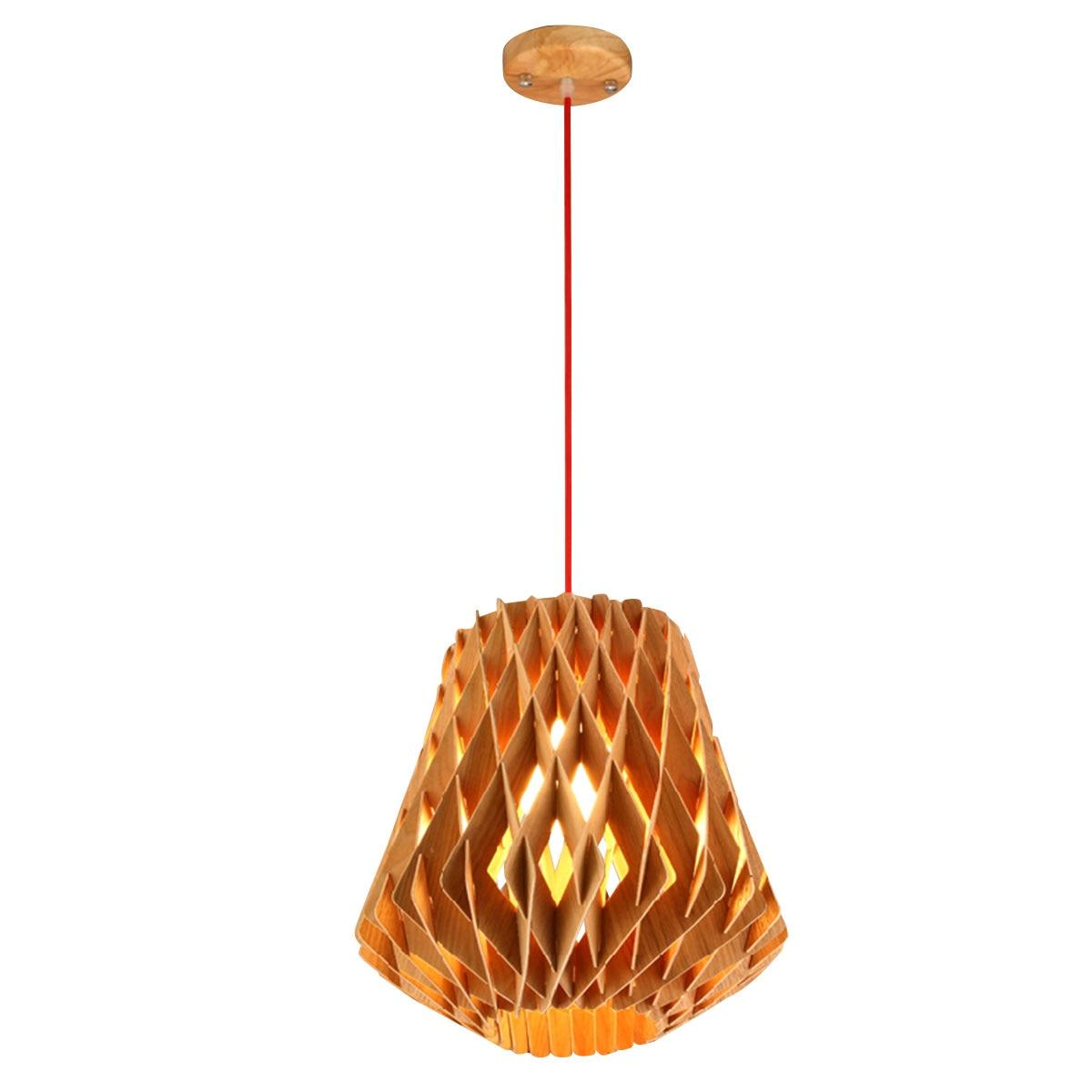new modern loft style pendant lights fashion wood engraved pendant