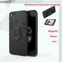 Cover Xiaomi Mi A1 Case Magnetic Ring Phone Holder Case For Xiaomi Mi A1 Phone Bumper Stand Funda Coque Xiomi Mi A1 Back Cover rdr cd [verde a1 ] pollicina