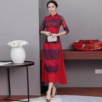 2017 Summer New Fashion Vietnam womens dress Woman Chinese traditional dress Exquisite Vietnam ao dai