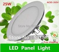 Super thin 25w 10PCS LED Panel Lights /ceiling lighting /High brightness Round light 2835 SMD Cold white AC85 265V