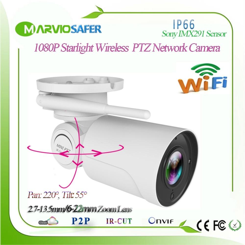 Sony IMX291 1080 p Starlight IP PTZ Caméra Réseau CCTV Camara Souper Faible Éclairage 2.7-13.5mm/6 -22mm Objectif Motorisé TF Carte