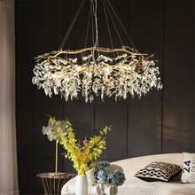 Modern Nordic Chandelier Lustres De Cristal Living Room Hotel Lobby Lighting Dining Decor Chandeliers Ceiling