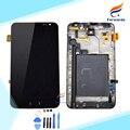 100% novo testado para samsung galaxy note n7000 i9220 lcd Exibição da tela com Digitador Touch Assembleia quadro 1 peça livre grátis