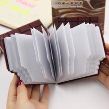 1pcs Cute Creative Stationery Kawaii Chocolate Memo Pad Sticky Notes DIY Notepad Office School Gifts