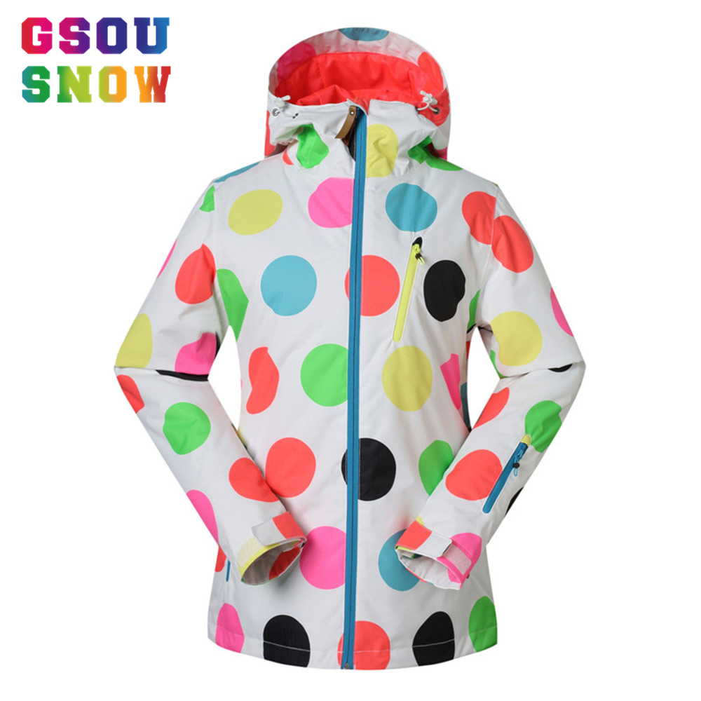 Gsou Snow Ski Jacket Women Waterproof Snowboard Jacket Winter Hooded Outdoor Skiing Snowboarding Sports Jacket Snow Coat &GS1411 gsou snow brand ski suit women ski jacket pants waterproof snowboard jacket pants winter outdoor skiing snowboarding sport coat