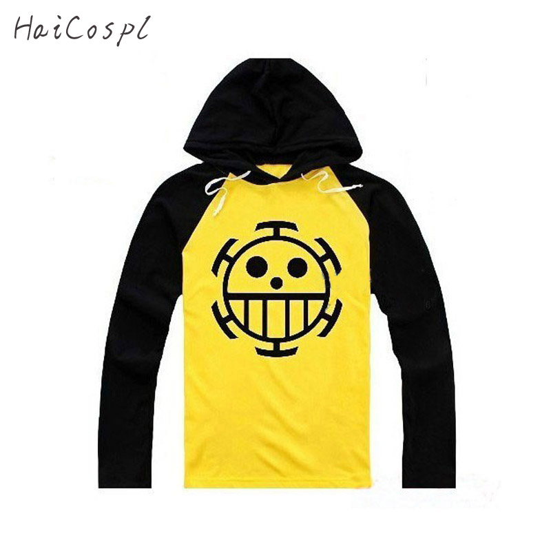 Anime Cosplay One Piece Kostym Trafalgar Law Hoodies Masquerade Clothes Top för Man Women Long Sleeve Plus Size