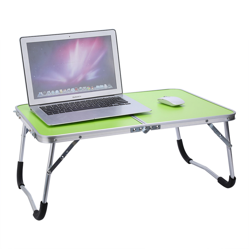 Image 2 - Portable Multifunctional Computer Desk Camping Outdoor Furniture Foldable Picnic Table Dormitory Bed Notebook Desk-in Laptop Desks from Furniture
