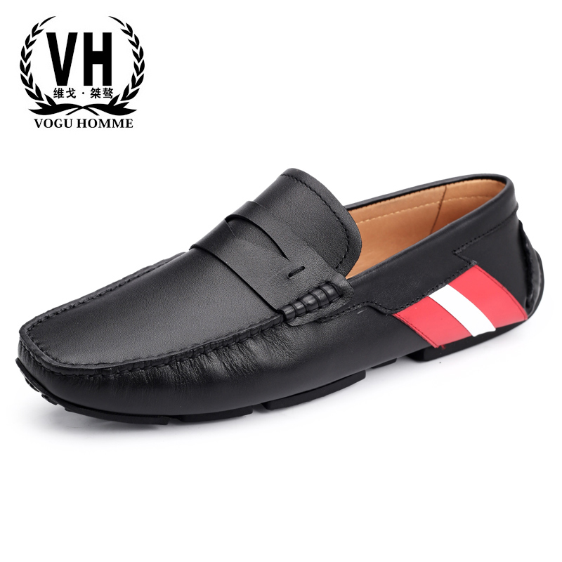 spring autumn summer Korean Genuine leather lazy men's casual shoes fashion breathable driving shoes men loafer shoes cowhide osco spring summer business casual shoes wild lazy shoes british genuine leather breathable bean shoes men driving pedal loafer