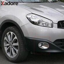 Для Nissan Qashqai и Qashqai + 2 2010-2013 Chrome передних противотуманных фар крышка планки глава Туман лампа Рамка Авто Аксессуары
