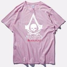 Assasins Creed T-Shirt Men/Women Pink Khaki Navy Blue Short Sleeved Mens T Shirts Fashion 2017 New Men Tshirt Tee Shirt Homme
