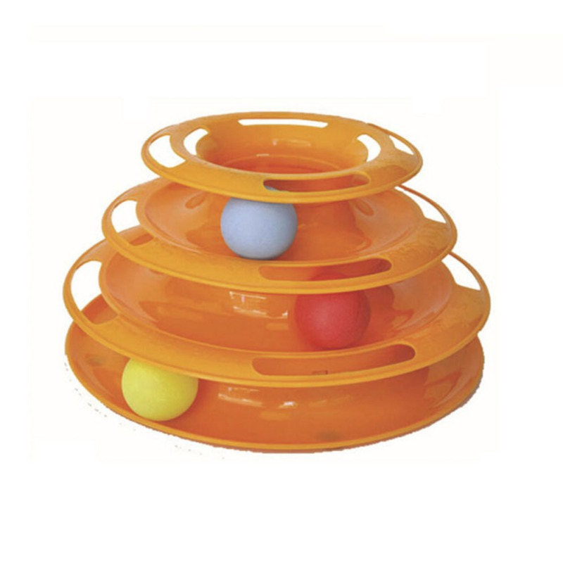 Cat Turntable Three Layers Toys Pet Crazy Ball Disk Interactive Amusement Plate Play Disc Trilaminar Turntable Cat Toy
