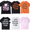 ANTI SOCIAL SOCIAL CLUB T Shirt Men Women Paranoid Undefeated Mastermind Skeleton Japan ASSC T-shirt ANTI SOCIAL SOCIAL T Shirt