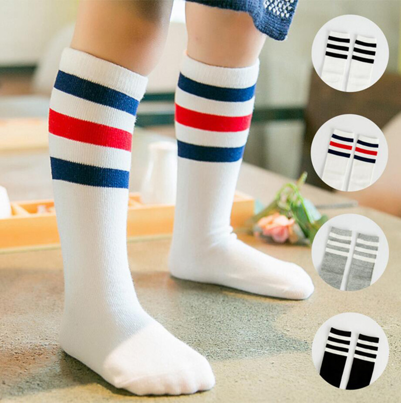 7 Pairs Toddler Boy Knee High Socks Baby Boys Cotton Stockings Little Boy Non Skid Socks Anti-skid Socks