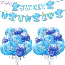 FENGRISE Babyshower Boy Elephant Baby Shower Decorations Birthday Party Decoration Kids Balloon