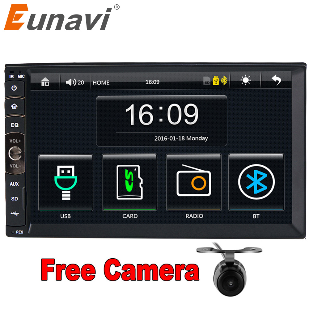 Eunavi 2 DIN Auto radio/GPS/MP3/mp5/usb/sd/lettore Bluetooth Vivavoce Retrovisore dopo Touch screen hd sistema di Radio BT