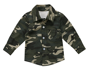 Cute Camouflage Kids Baby Boys Girls Long Sleeve Tops Shirt T-shirt Clothes 0-4T