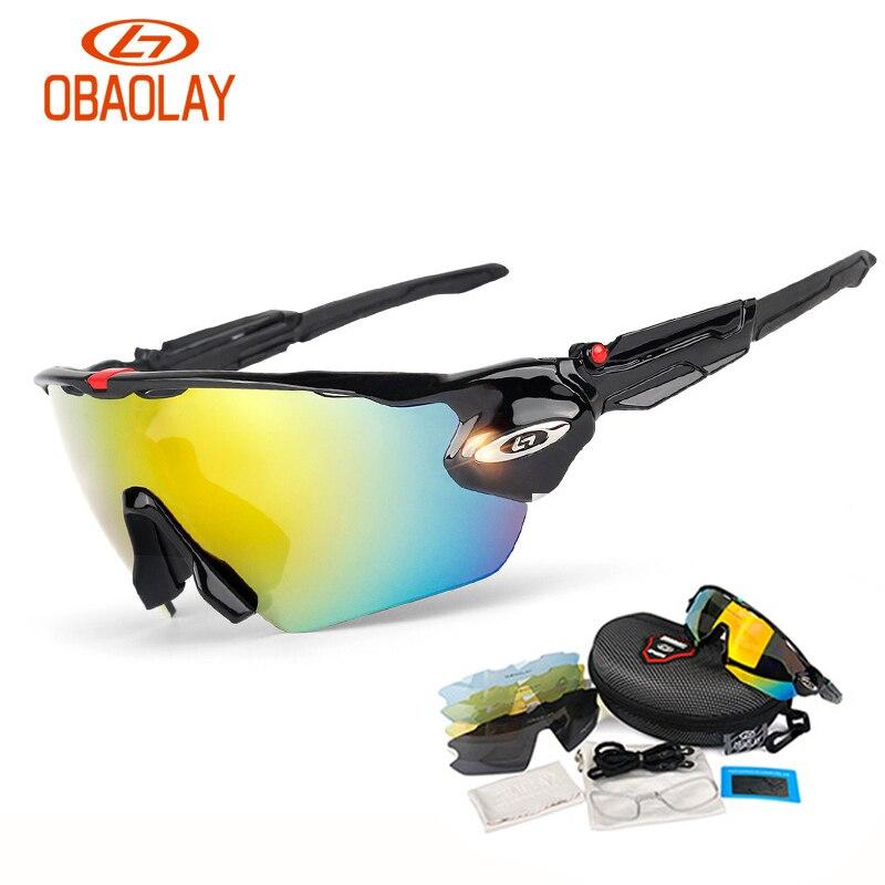Polarisé 5 lentilles cyclisme lunettes ensemble Sports de plein air vélo lunettes de soleil hommes femmes moto vélo lunettes de soleil lunettes lunettes nouveau