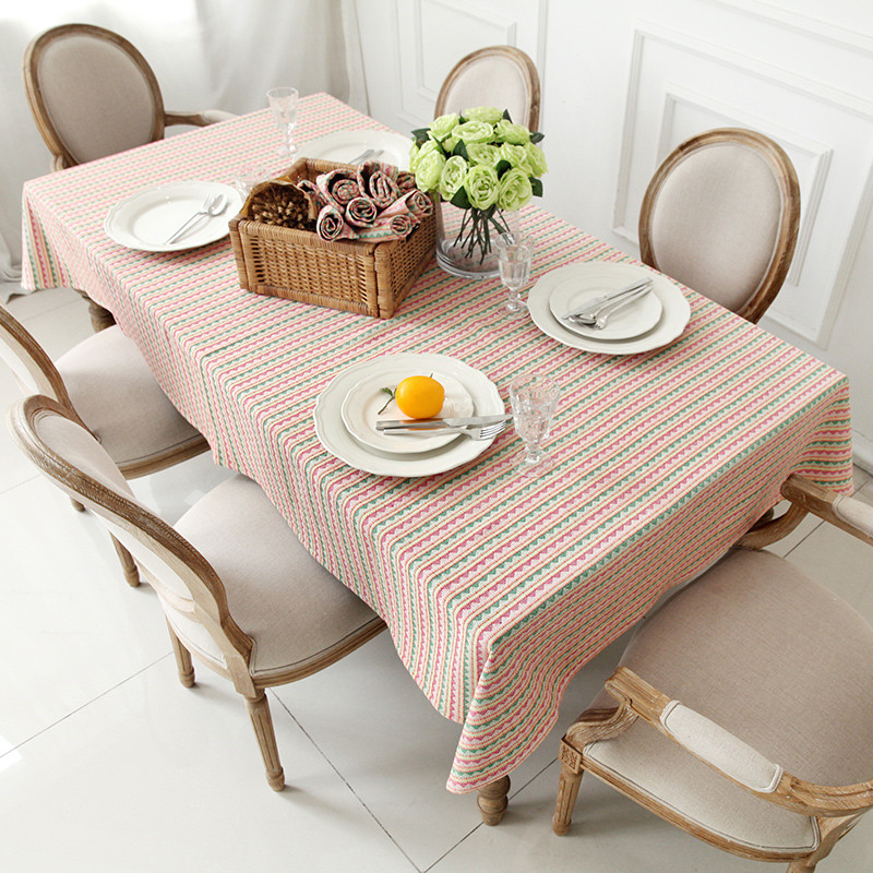 northern europe pastoral style geometric pattern table cloth decoration linen dinning tablecloth outdoor picnic table cover