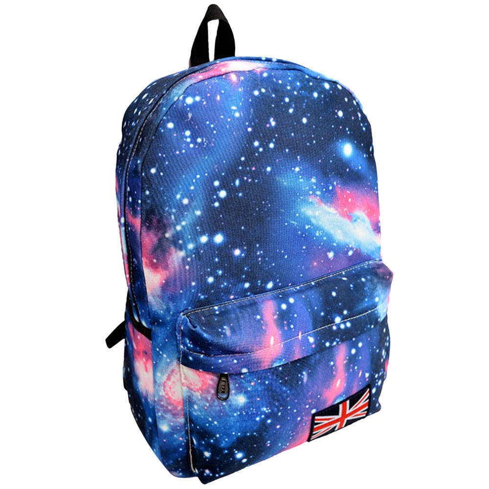 Fashion Galaxy Pattern Unisex Travel Backpack Canvas Leisure Bags School bag Rucksack Hot Selling
