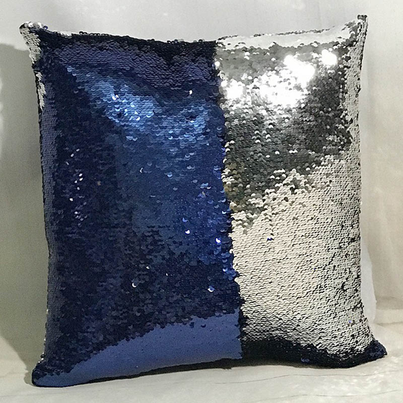 Diy Cojines.Mermaid Cushion Cover Reversible Pillow Case Coussin