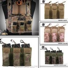 Emerson 5.56 Pistol Triple Open Top Magazine Tactical pouch military army CS combat gear EM 6363