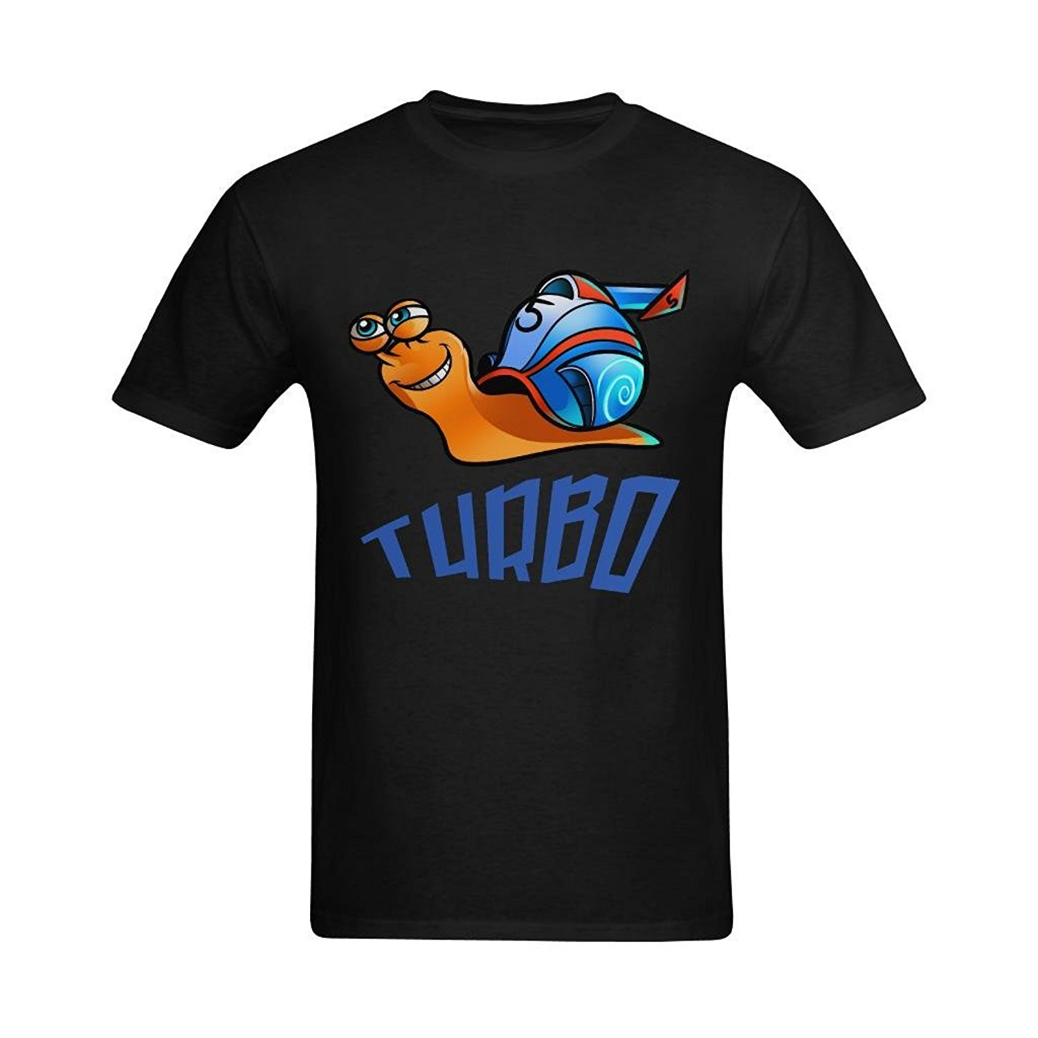 Youranli MenS Turbo Animation Garden Snail Supercharger T Shirts Short Sleeves Cotton T Shirt Free Shipping Top Tee Plus Size