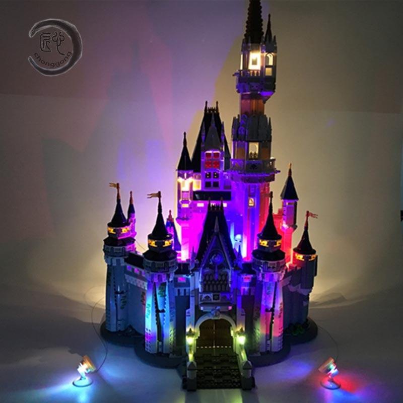 Led Light Kit For Building City Street 71040 16008 Cinderella Princess Castle Model Blocks Creator Street