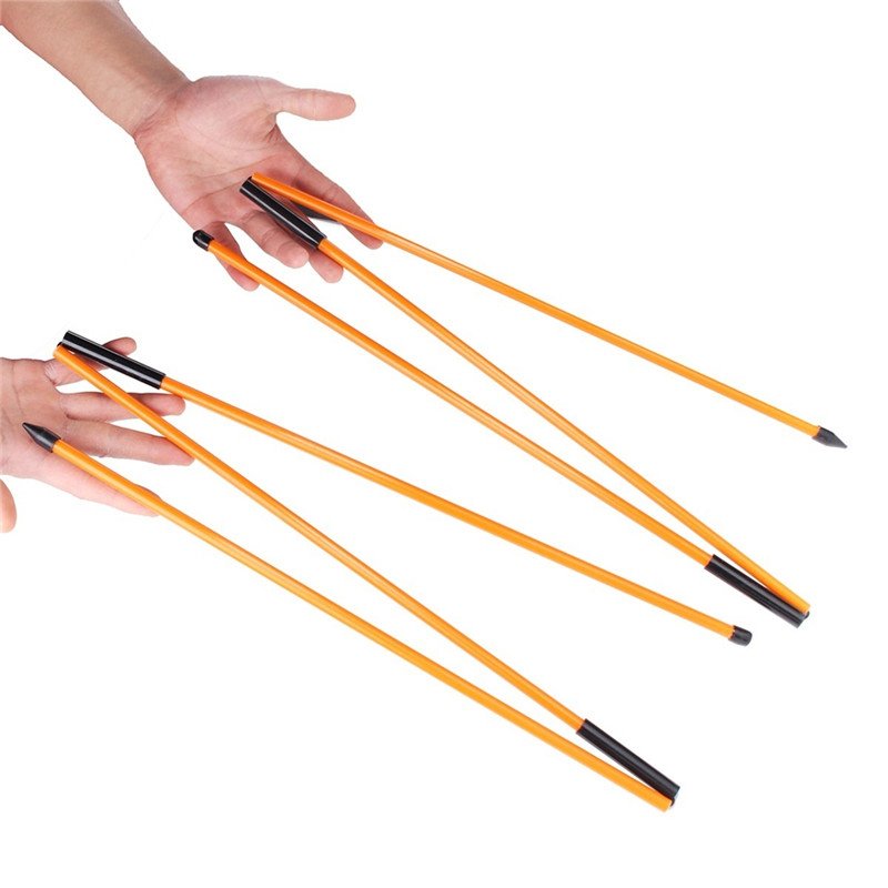2 pçs golf alinhamento varas de fibra de vidro treinamento varas para bola correta direção instrutor do balanço golfe prática acessórios