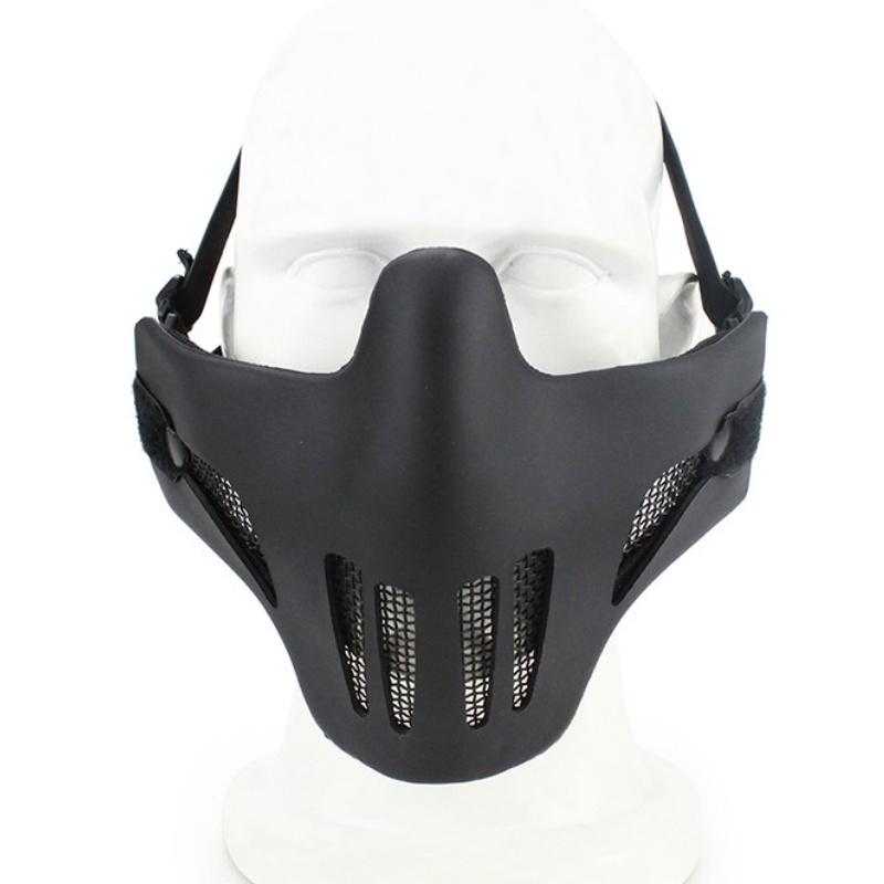 V1 Ghost Recon Style Metal Steel Mesh Half Face Airsoft Paintball Mask Skull Hunting Wargame Military Army Tactical Masks