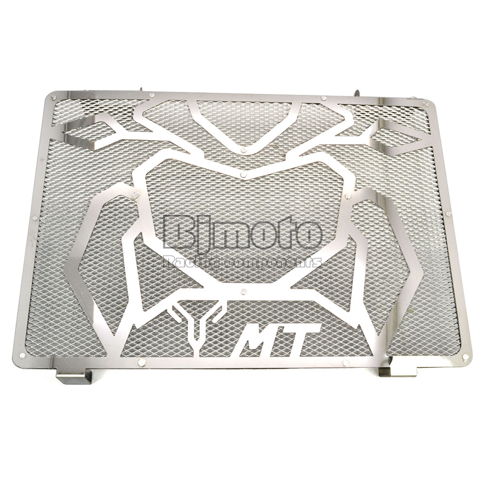 ФОТО BJGLOBAL Motorcycle Engine Radiator Bezel Grille Grill Guard Cover Protector Silver For Yamaha MT09 Stainless Steel