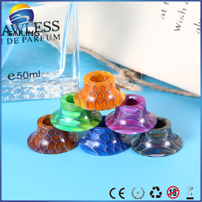 Sailing Snake Skin Pattern Epoxy Resin Drip Tips for Mage RTA Atomizer Vape Electronic Cigarette 2pcs