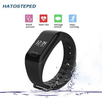 Monitorização da pressão Arterial do bluetooth pulseira inteligente Com Tela Sensível Ao Toque de Apoio pulseiras fotografia Remoto Para IOS Android