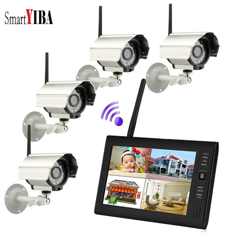 SmartYIBA 7Inch Baby Monitor DVR 2.4GHz Digital Wireless 4CH CCTV DVR NVR Security Camer ...