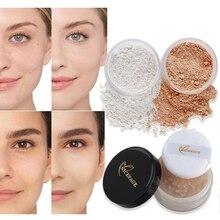 Пудра для макияжа лица, контроль жирности, блестящая свободная пудра, матовая отделка, прозрачная пудра, основа для макияжа