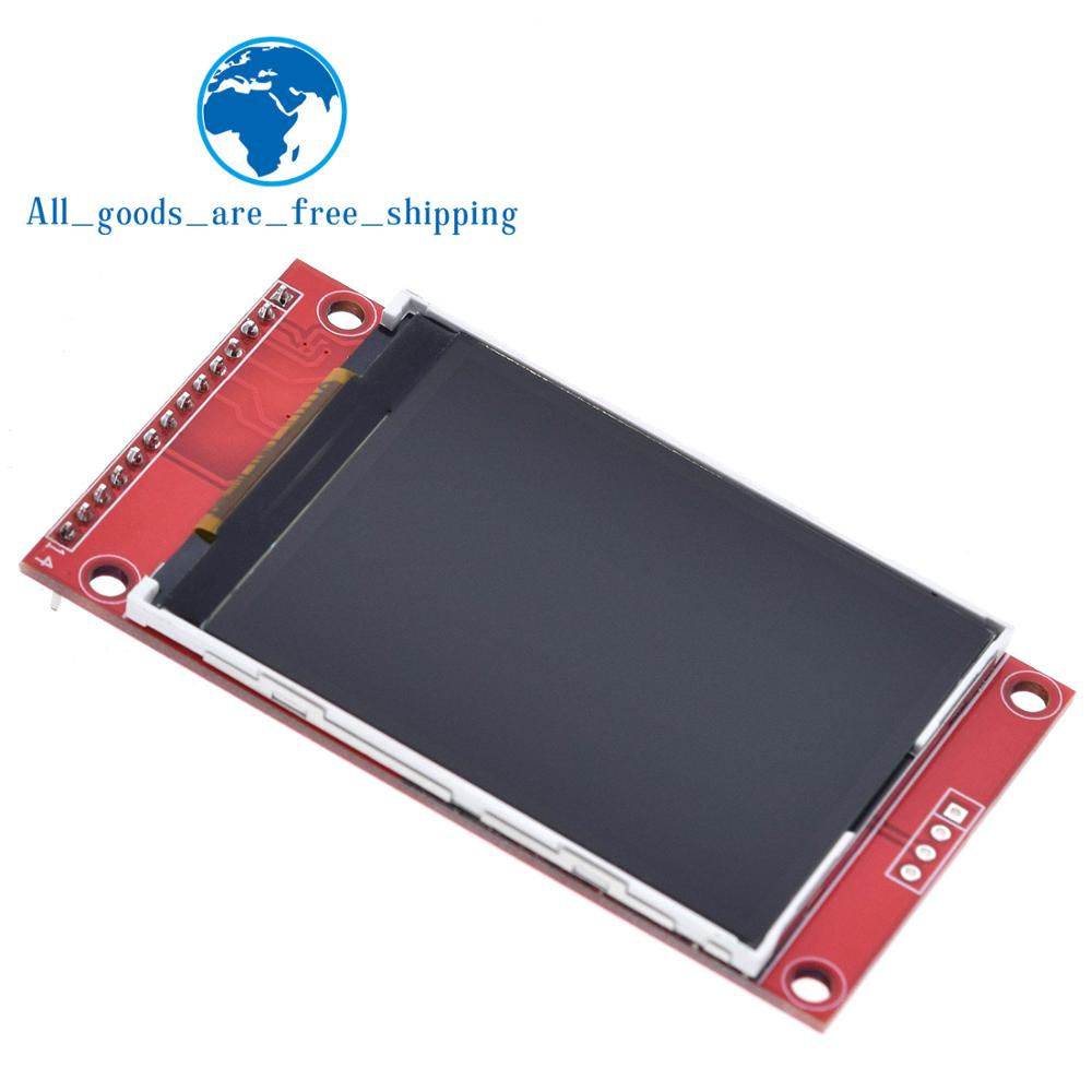 "2.4"" 2.4 inch 240x320 SPI TFT LCD Serial Port Module 5V/3.3V PCB Adapter Micro SD Card ILI9341 LCD Display White LED for arduino(China)"