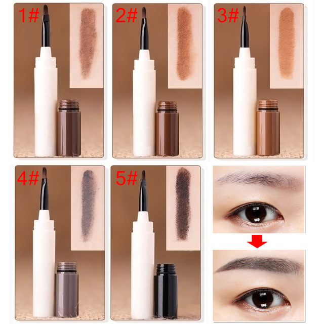 Professional Waterproof Makeup Eyebrow Tint Brows Gel Long Lasting Eyebrows Tattoo Dye Gel Make Up Kit Drop Ship 3