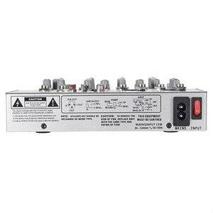 Image 5 - LEORY ミニデジタルカラオケマイクアンプ混合オーディオサウンドミキサーコンソール 4 チャンネル内蔵 48 48v ファンタム電源と USB