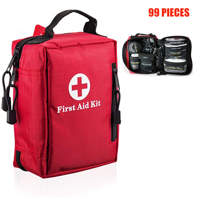 99Pcs Mini First Aid Kit Portable Outdoor Waterproof Medical Bags for Hiking Camping Car Cycling Survie