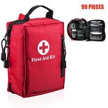 99 шт. мини аптечка Портативный Открытый водостойкие медицинские сумки для походов кемпинг автомобиль Велоспорт Survie Аварийная сумка первой помощи