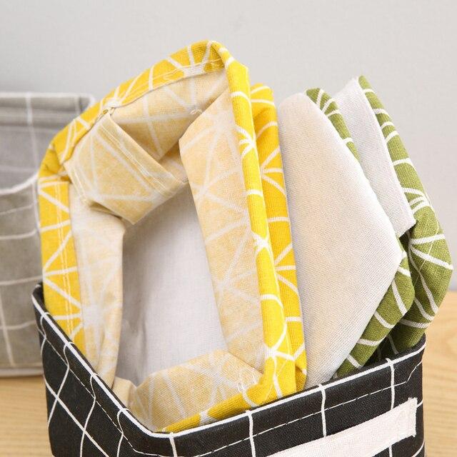 DIY Desktop Storage Basket Sundries Underwear Toy Box Cosmetic Book Organizer Stationery Container Laundry 3