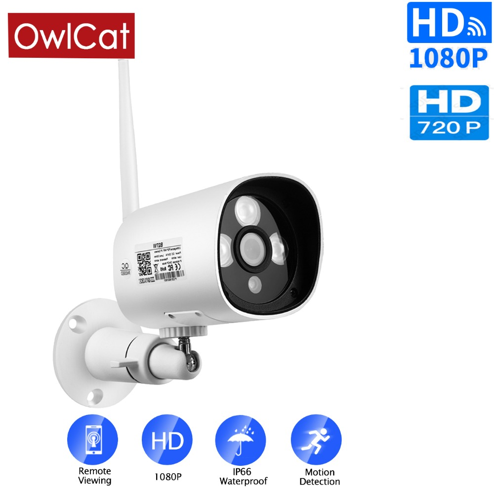 WM 3.6MM Audio 2.0MP 1080P WIFI IP Camera Network ONVIF NightVision Security ABS