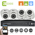 CNHIDEE 4CH Seurity System 1000TVL DVR 4PCS  IR indoor  CCTV Dome Camera Set Home Security System Video Surveillance Kit .