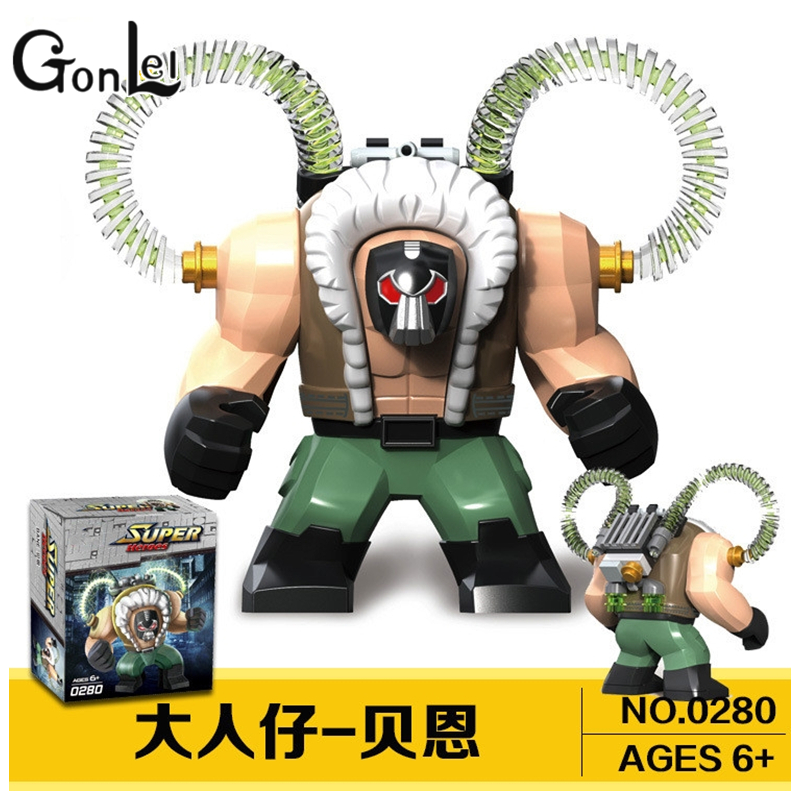 GonLeI NEW Marvel DC Super Heroes The Avengers Batman movie Bane Model Building Blocks Sets toys compatible with Lepin gifts marvel avengers super heroes figures batman iron man black widow hulk joker lepin building blocks model sets toys for children
