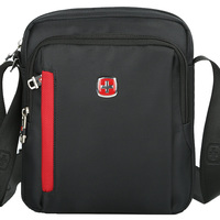 SCOGOLF Shoulder Bags For Men Crossbody Bags For Men Men Bag Waterproof Nylon Bag SC5100 Black