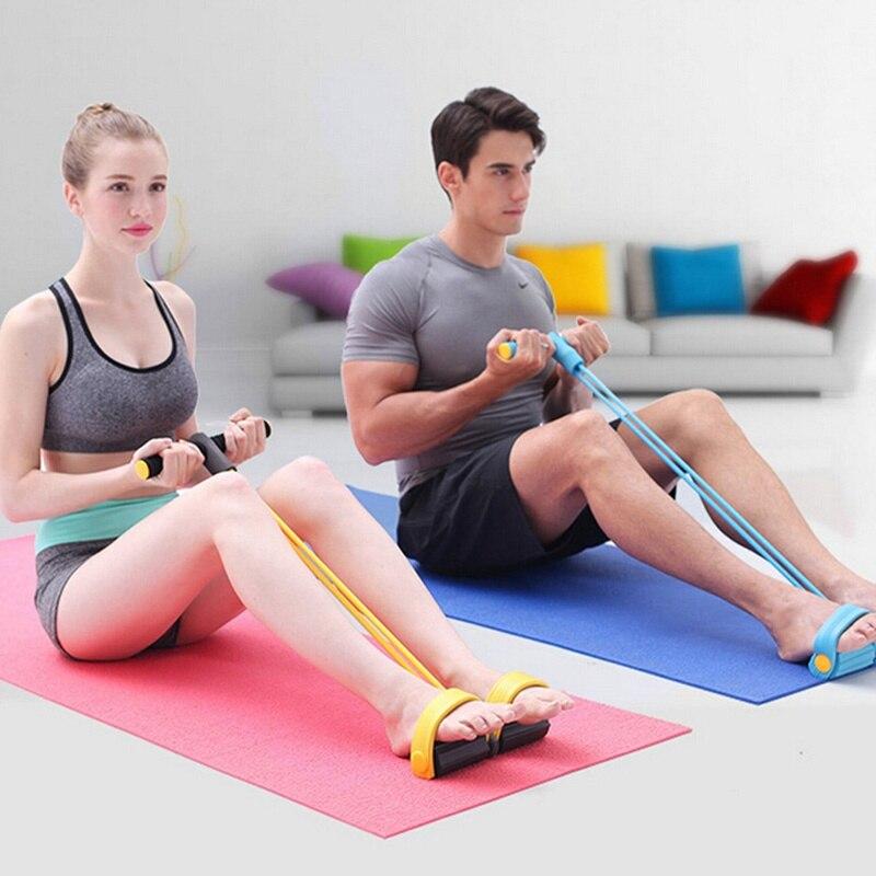 Latex Elastic Resistance Band Pilates Pull Rope Tube Yoga Gym Fitness Equipment