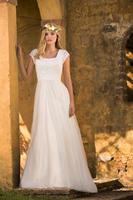 2019 кружево чешские скромное свадебное платье одежда с рукавами Тюлевая юбка Простой в стиле кантри Вестерн храм Свадебные платья индивидуа